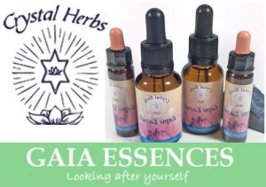 Merken gemstone essences Crystal Herbs en Gaia Essences